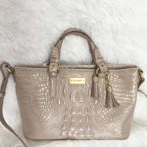 NWT! BRAHMIN Melbourne Mini Asher' Leather Tote